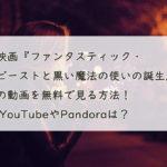 映画『ファンタスティック・ビーストと黒い魔法の使いの誕生』の動画を無料で見る方法!フルで視聴する方法も紹介。 YouTubeやPandoraは?