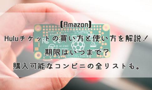 【Amazon】Huluチケットの買い方と使い方を解説!期限はいつまで?購入可能なコンビニの全リストも。