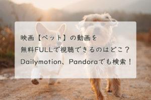 映画【ペット】の動画を無料FULLで視聴できるのはどこ?Dailymotion、Pandoraで検索!