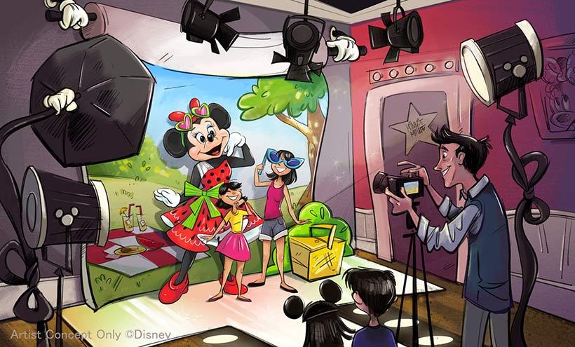 キャラクターグリーティング施設「ミニーのスタイルスタジオ」
