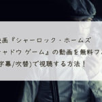 映画『シャーロック・ホームズ シャドウ ゲーム』の動画を無料フル(字幕/吹替)で視聴する方法!Pandora、Dailymotionも。