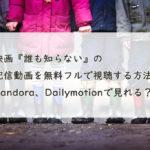 映画『誰も知らない』の配信動画を無料フルで視聴する方法。Pandora、Dailymotionで見れる?