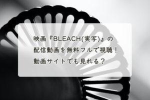 映画『BLEACH(実写)』の配信動画を無料フルで視聴する方法!